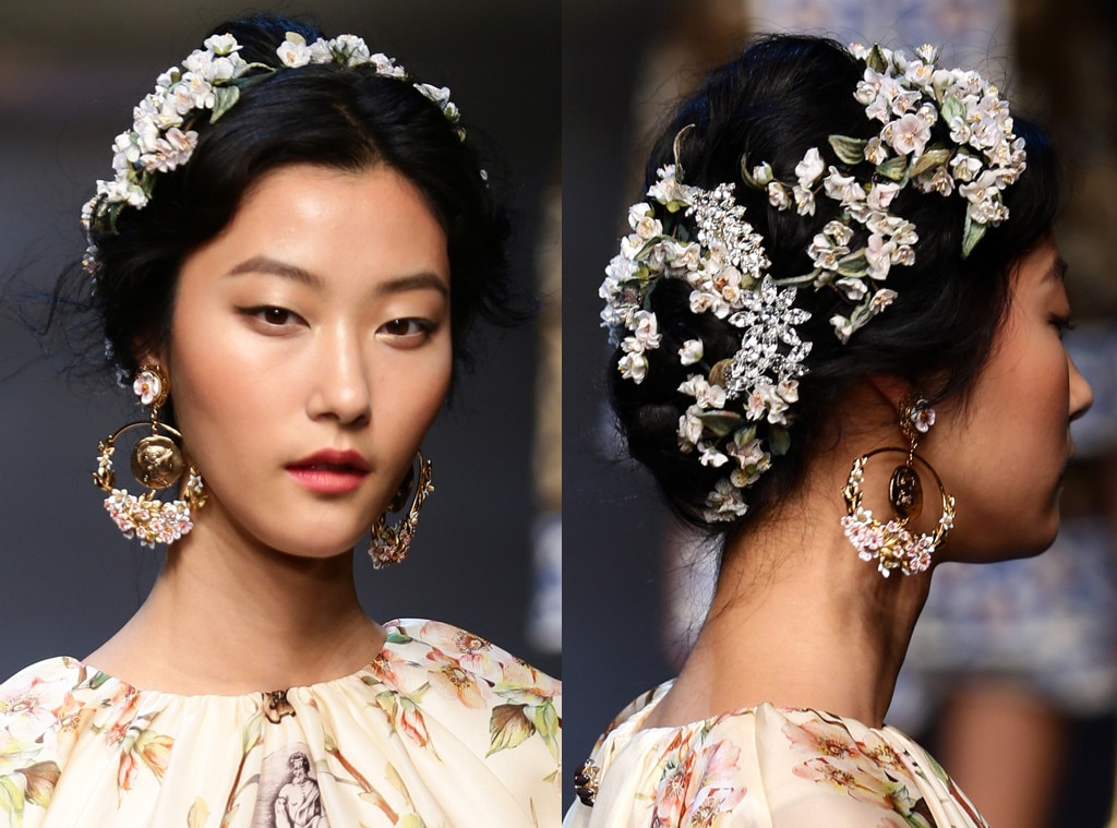 Dolce Amp Gabbana From Prettiest Floral Hairstyles Ever To