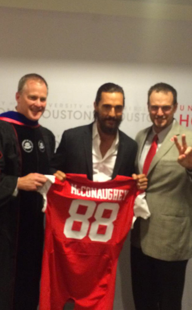 Matthew McConaughey, Houston Football Jersey, Twitter