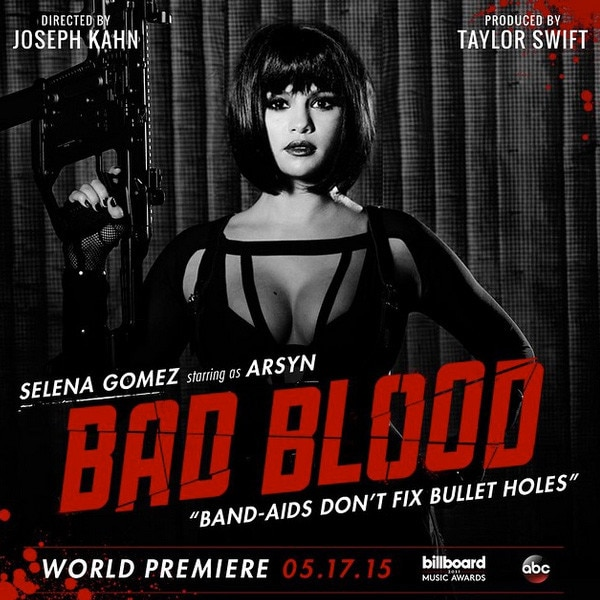 Taylor Swift Bad Blood poster, Selena Gomez