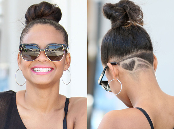 Christina Milian Shaves A Heart On The Back Of Her Head