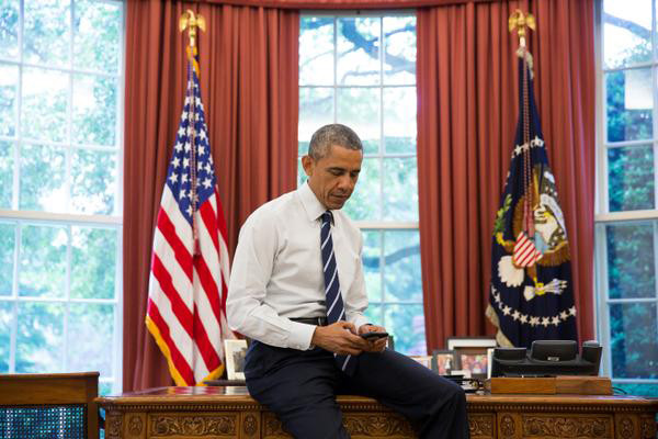 President Barack Obama, Tweeting