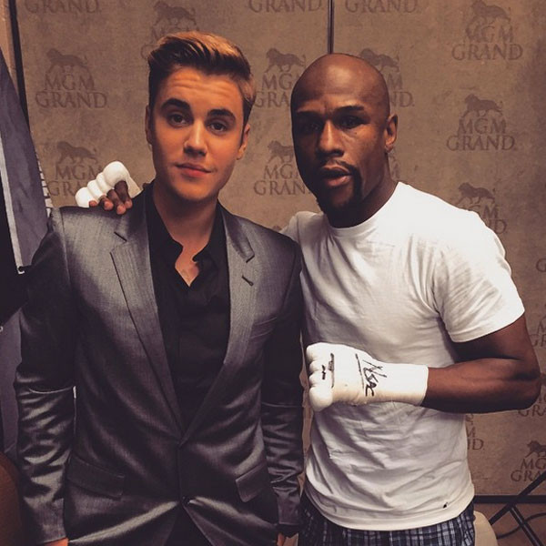 Boxing Fight, Justin Bieber, Floyd Mayweather, Jr.