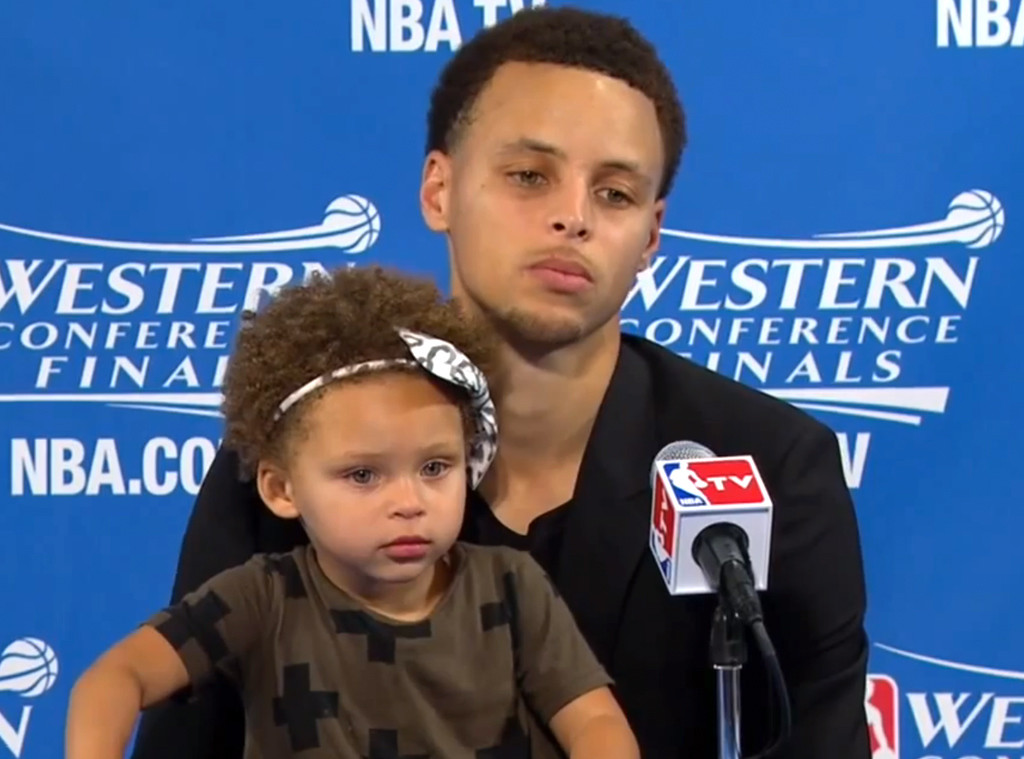 Stephen Curry's Adorable Daughter Riley Took Over His Post-Game ...