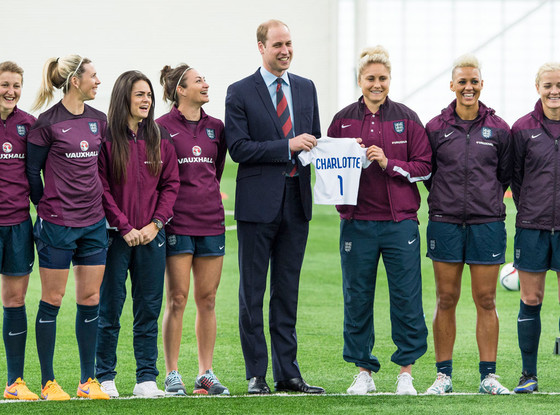 Prince William, Duke of Cambridge, England Womens Football Team