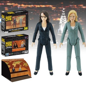 Saturday Night Live Weekend Update Tina Fey /& Amy Poehler SNL Action Figure Set