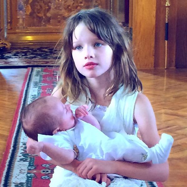 Milla Jovovich Baby