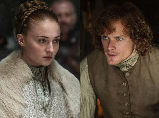 Sophie Turner, Game of Thrones, Sam Heughan, Outlander