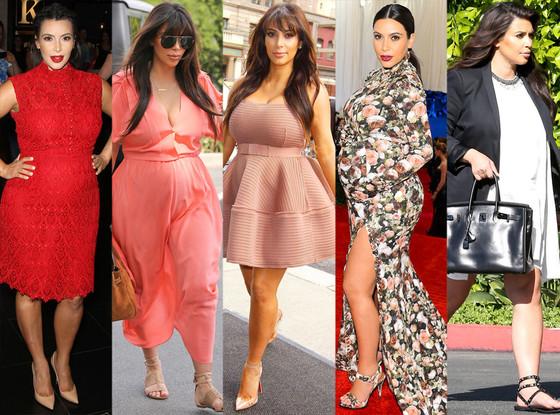 Top 10 melhores looks de gravidez de Kim Kardashian