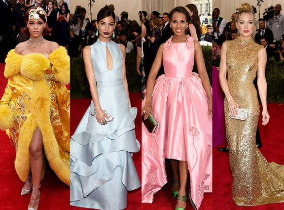 Kate Hudson, Lily Aldridge, Kerry Washington, Rihanna, Best Dressed, Met Gala 2015
