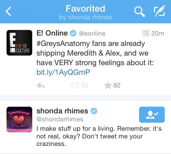 Shonda Rhimes, Twitter