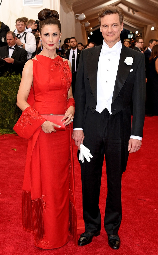 Colin Firth Amp Livia Giuggioli From 2015 Met Gala Red