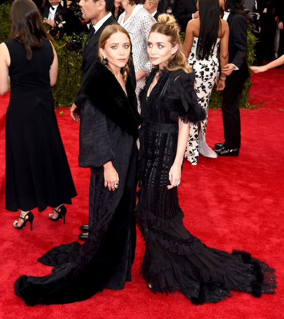 Mary Kate, Ashley Olsen, Met Gala 2015