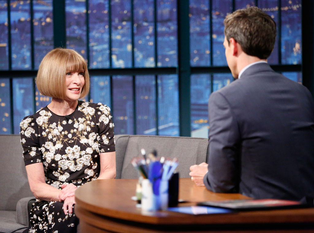 Anna Wintour, Seth Meyers