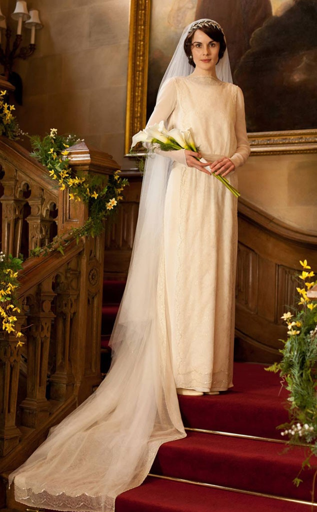 Downton Abbey From Best Tv Amp Movie Wedding Dresses E News