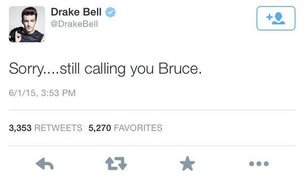 Drake Bell, Twitter, Caitlyn Jenner, Bruce Jenner