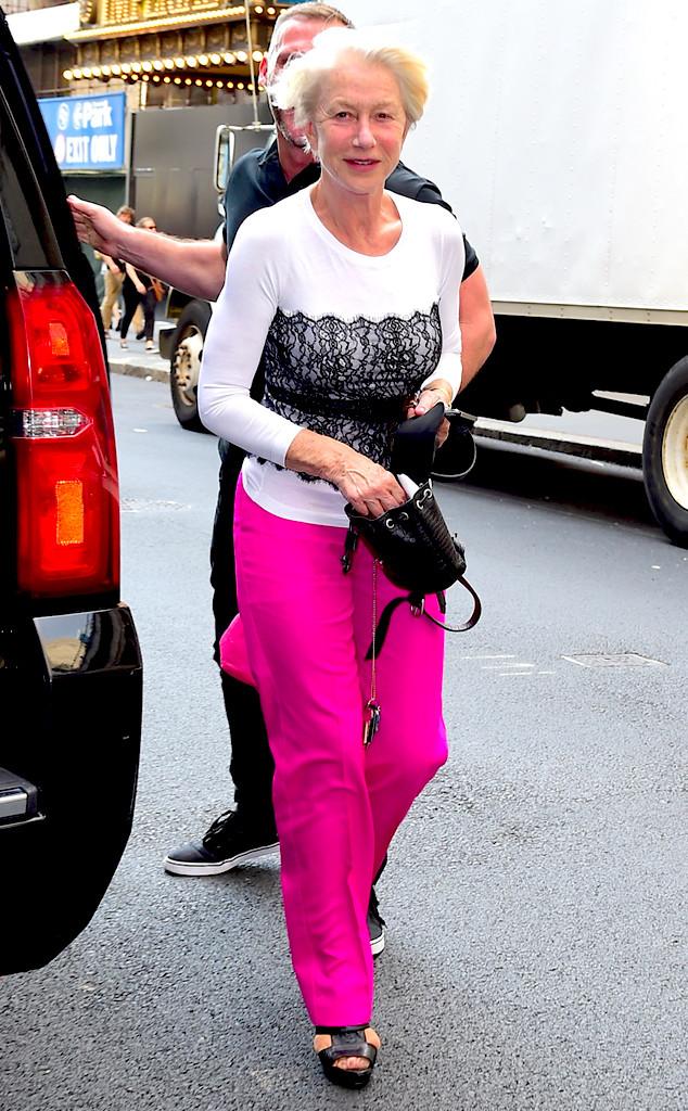 Helen Mirren, 69, Looks Stunning With No Makeup On! - E