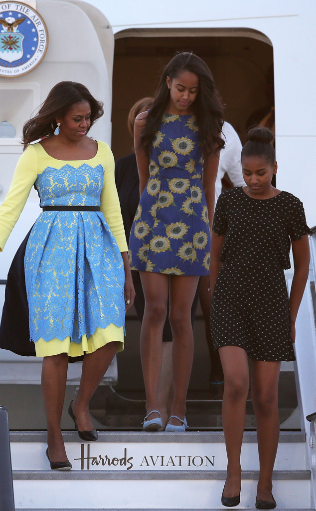Michelle Obama, Sasha Obama, Malia Obama