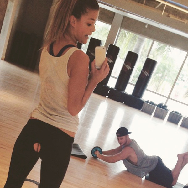 Nina Agdal Splits Her Pants, Flashes Butt Crack at the Gym: See the Pic!