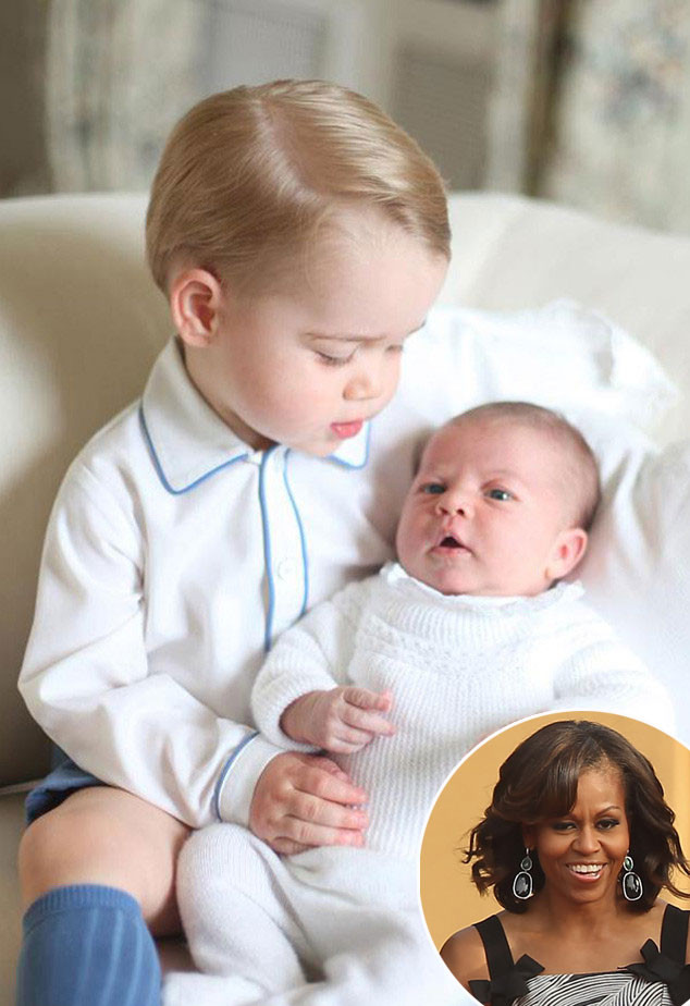 Michelle Obama Brings Prince George And Princess Charlotte