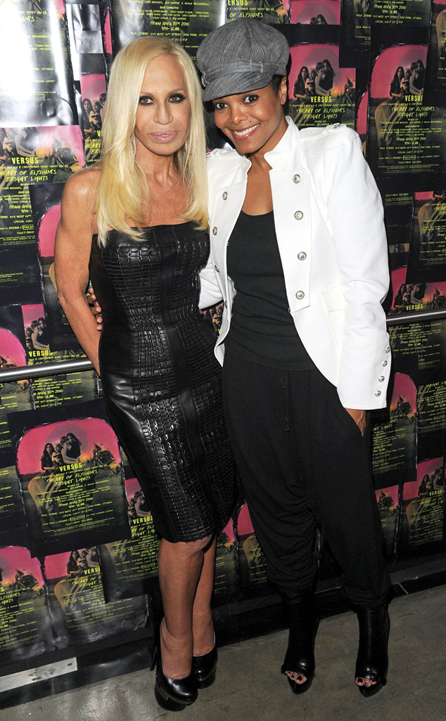Donatella Versace, Janet Jackson