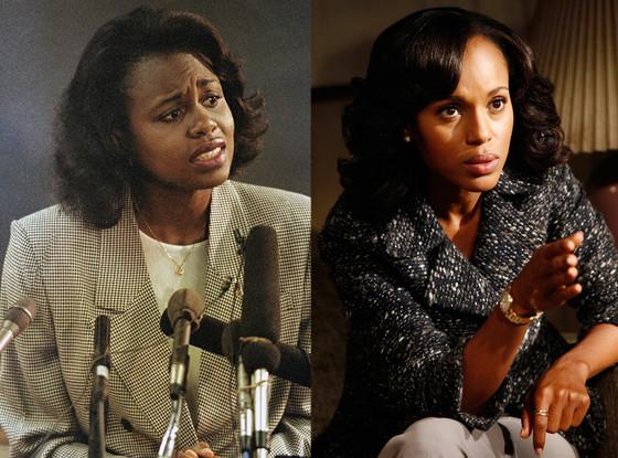 Anita Hill, Kerry Washington, Stars Playing Real People