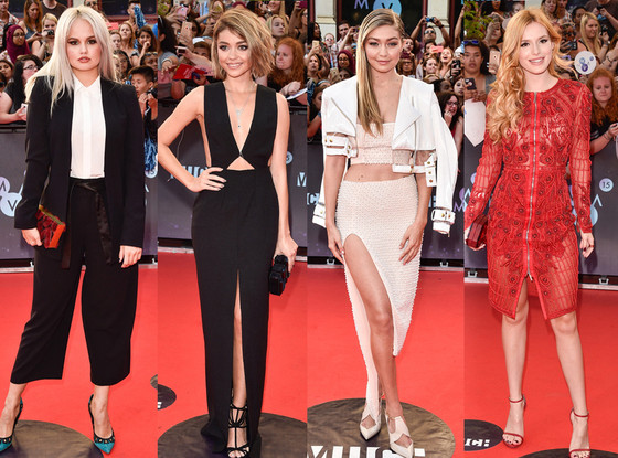 Best Dressed, Debby Ryan, Sarah Hyland, Gigi Hadid, Bella Thorne, 2015 MuchMusic Video Awards