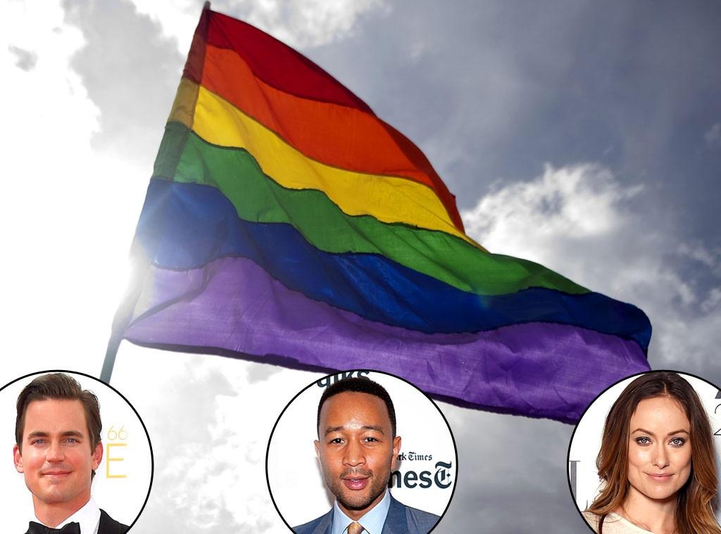 Celeb Reax Gay Marriage Rainbow Flag