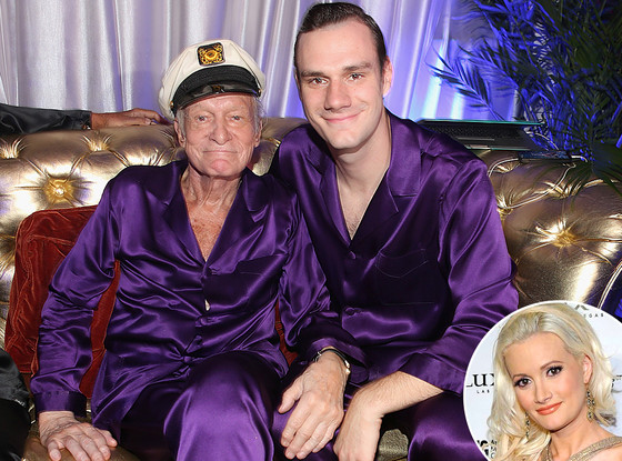 Hugh Hefner, Cooper Hefner, Holly Madison