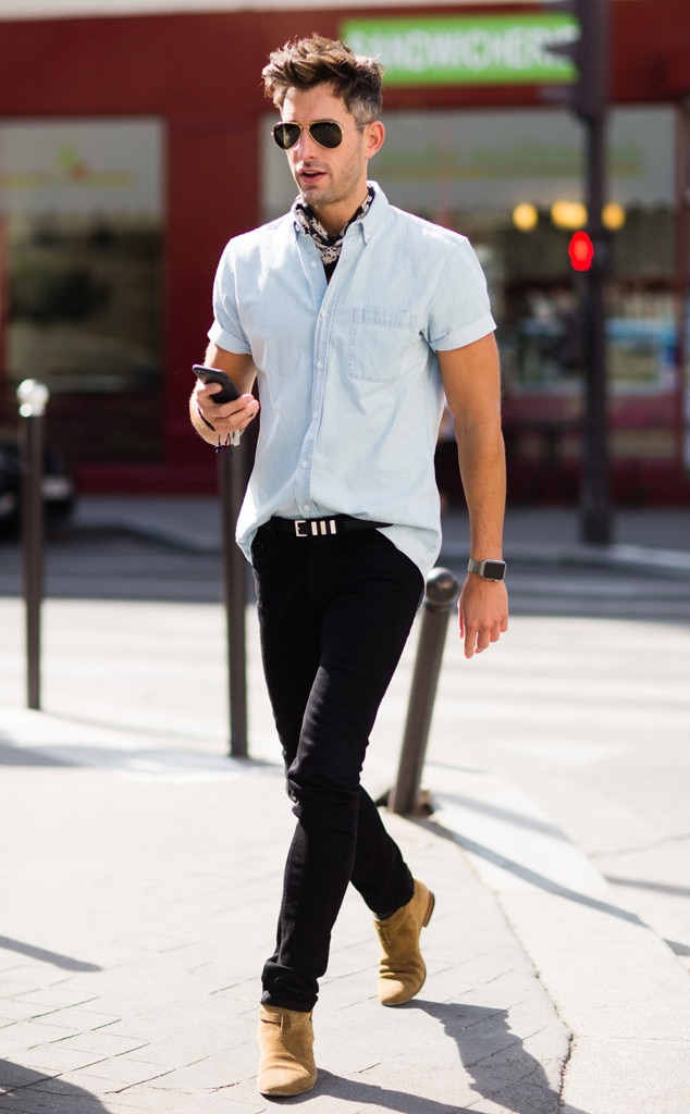 David Thielebeule From Men 39 S Fashion Week Street Style E News