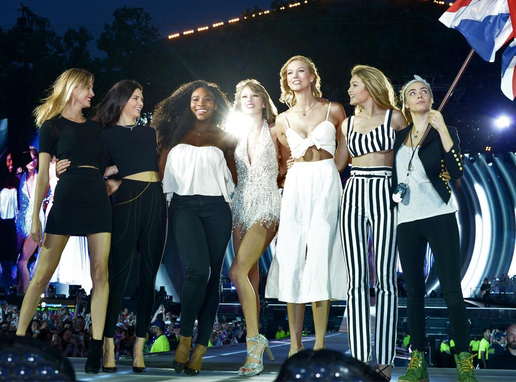 Martha Hunt, Kendall Jenner, Serena Williams, Taylor Swift, Karlie Kloss, Gigi Hadid, Cara Delevingne