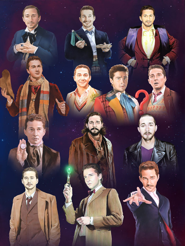 An Artist Drew Shia LaBeouf as All 13 Doctors From Doctor Who and It's Weirdly Beautiful