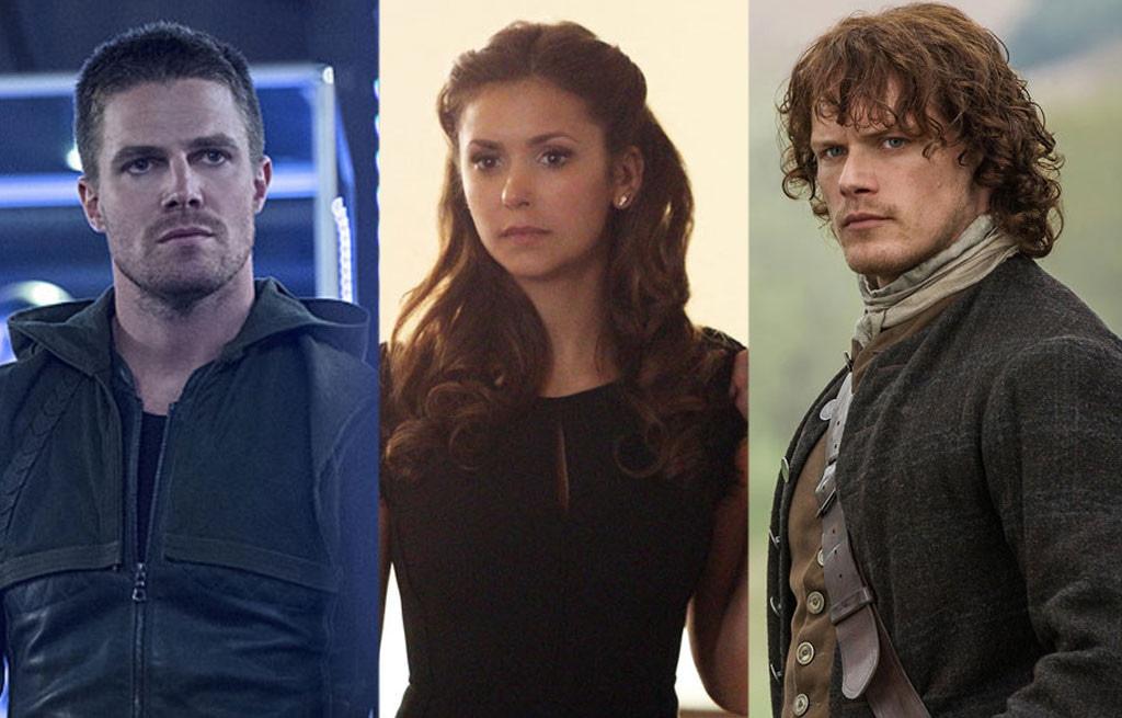 Stephen Amell, Arrow, Nina Dobrev, The Vampire Diaries, Sam Heughan, Outlander
