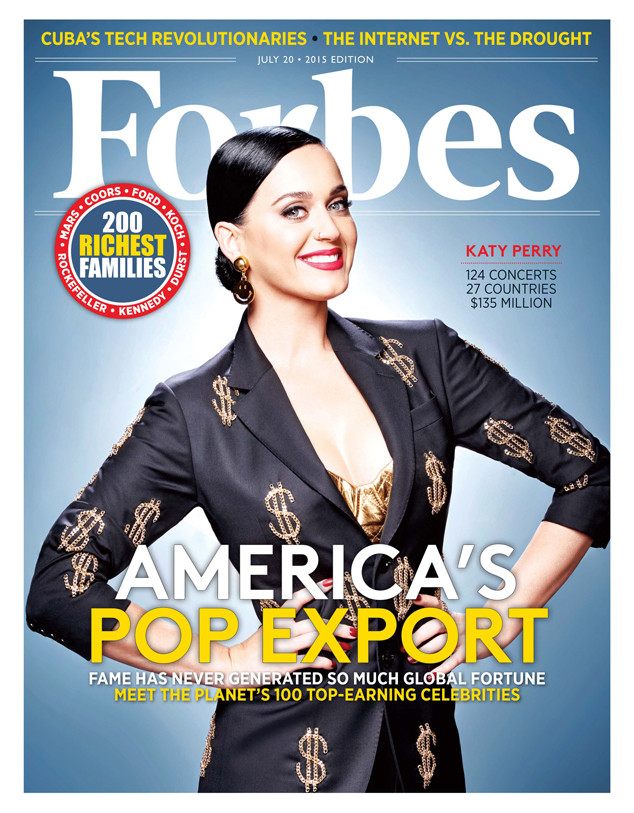 Katy Perry, Forbes