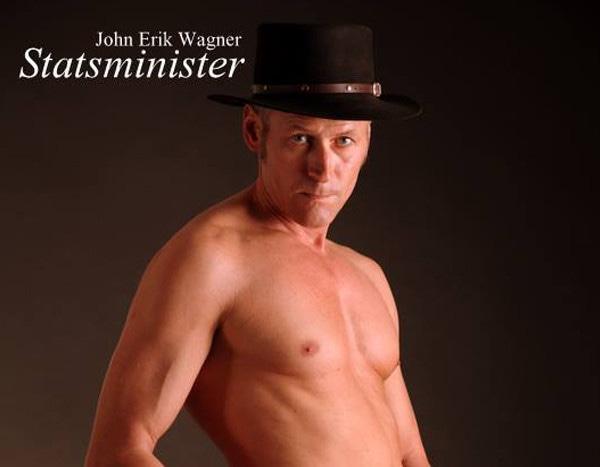 Danish politician John Erik Wagner poses nude for election