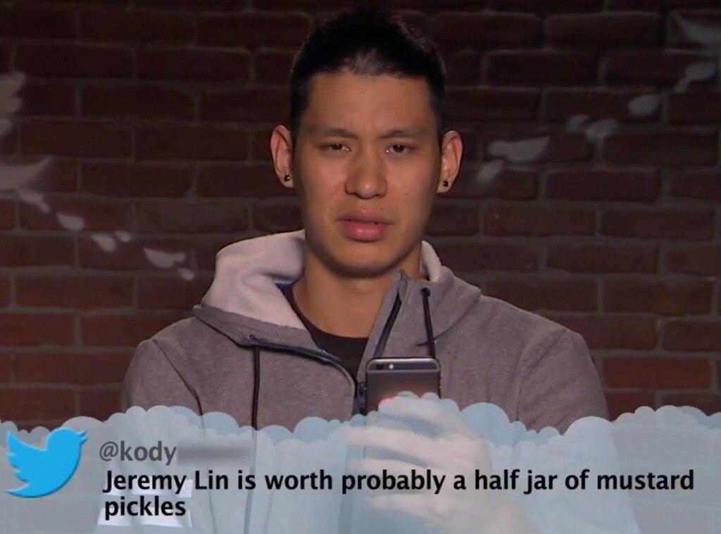 Jeremy Lin from Celebrity Mean Tweets From Jimmy Kimmel ...