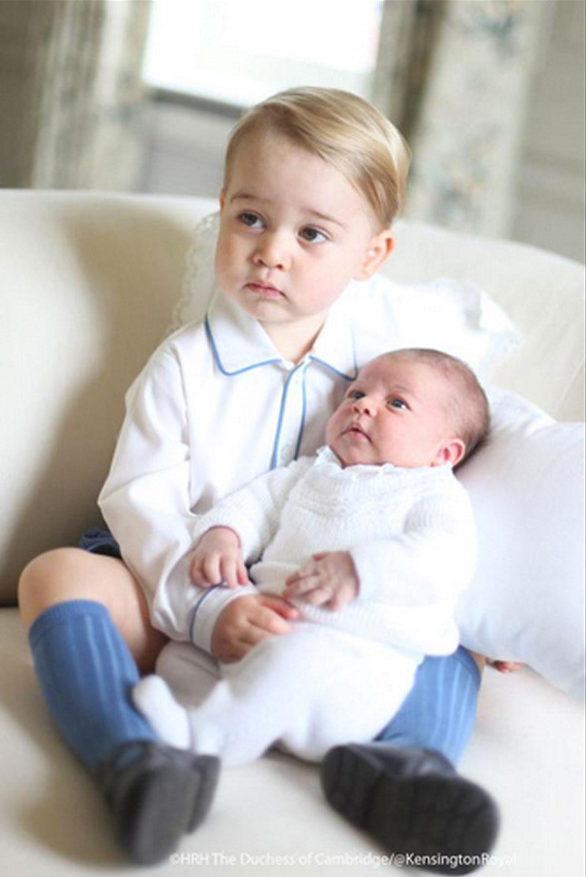 Princess Charlotte, Prince George, Duchess Catherine, Prince William
