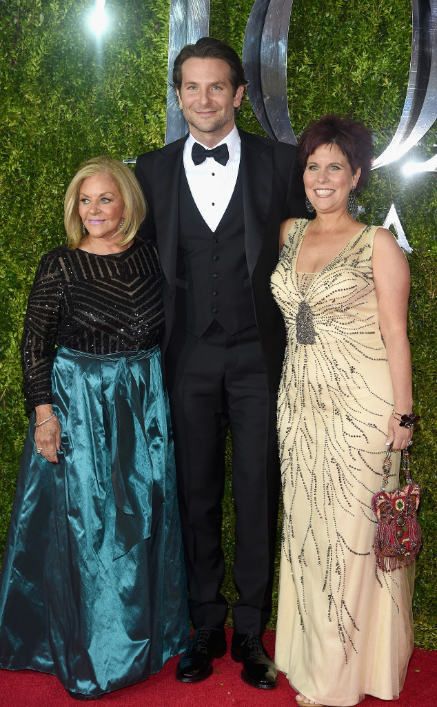 Bradley Cooper, Gloria Campano, Holly Cooper, 2015 Tony Awards