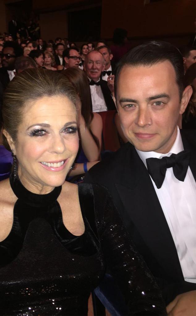 Rita Wilson, Colin Hanks, 2015 Tony Awards. Twitter