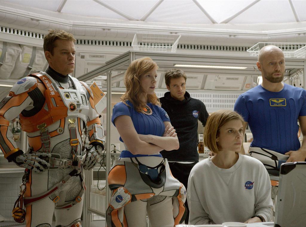 The Martian, Matt Damon, Jessica Chastain, Kate Mara
