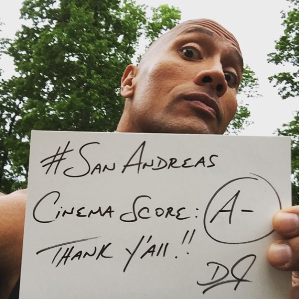 The Rock, Instagram