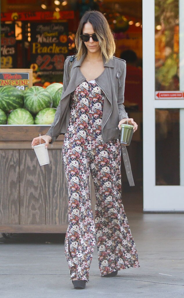 Jessica Alba, Floral Jumpsuit