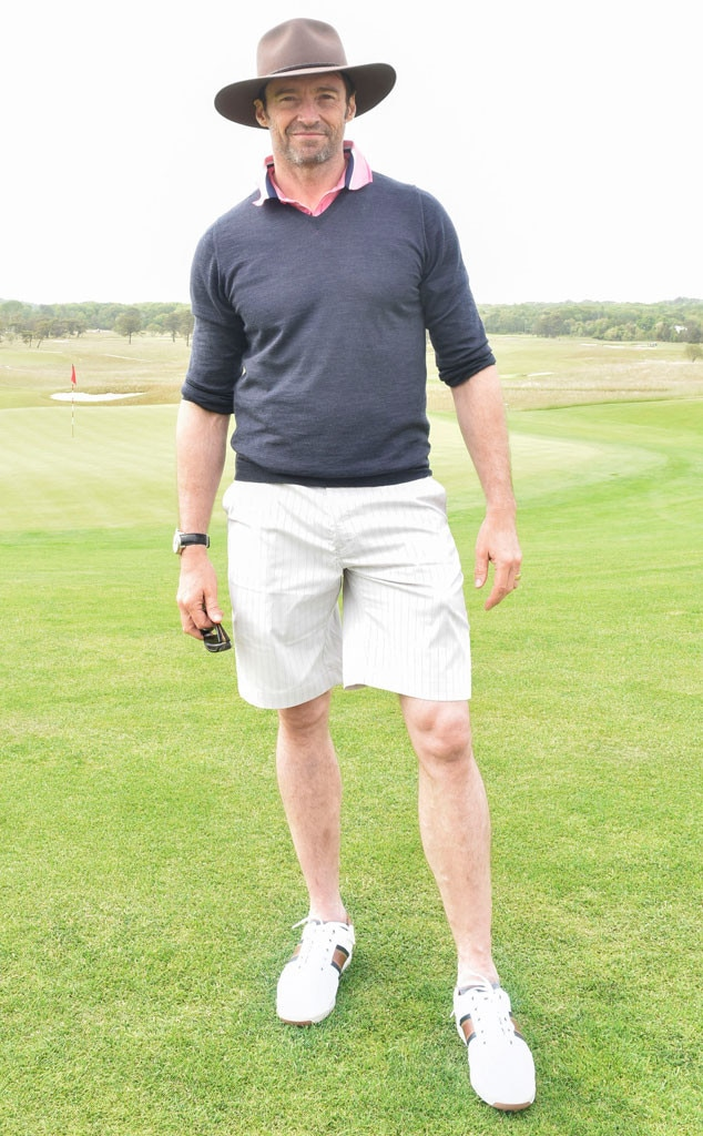 Hugh Jackman -  The  X-Men  actor also makes for a super golf player.