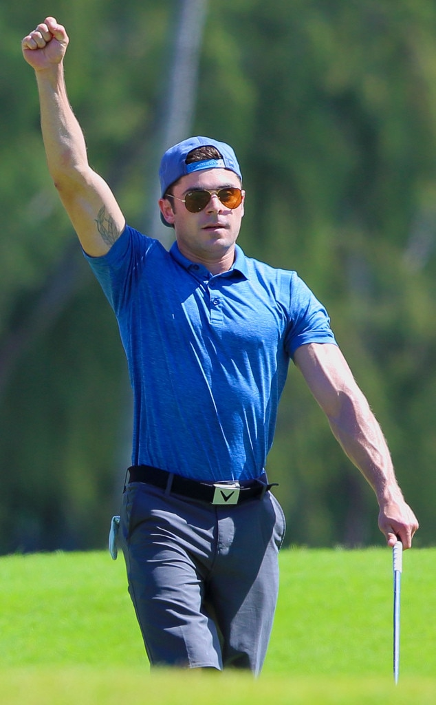 Zac Efron -  The  High School Musical  star has got his head in the game!