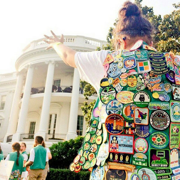 Girl Scouts, White House, Instagram