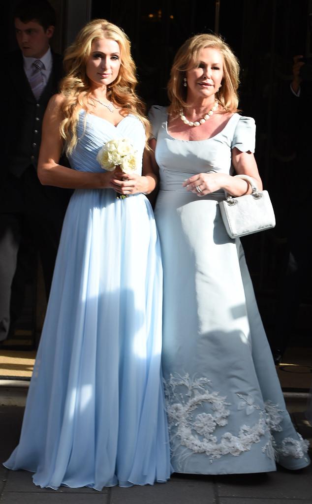 robe bleu pale plissé pour demoiselle d'honneur