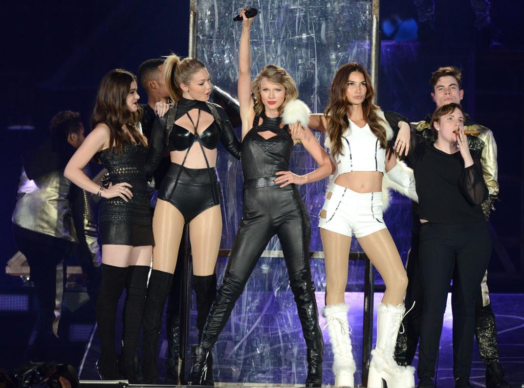 Taylor Swift Concert, Hailee Steinfeld, Gigi Hadid, Lily Aldridge, Lena Dunham