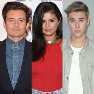 Orlando Bloom, Selena Gomez, Justin Bieber