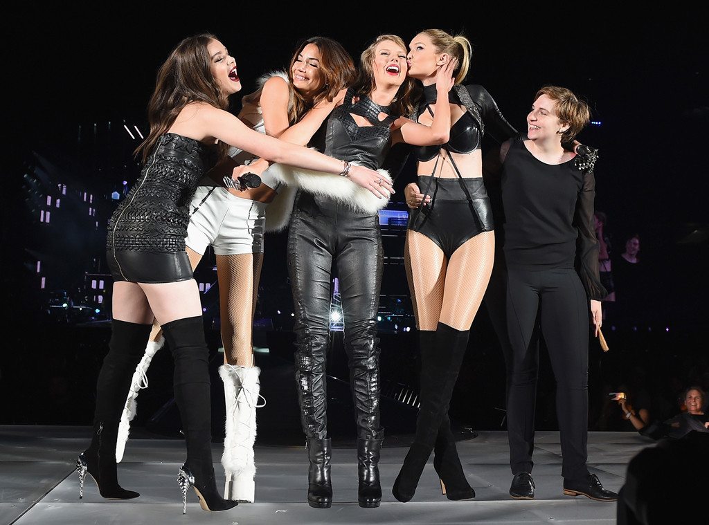 Lena Dunham Says She Felt ''Chubby'' Next to Taylor Swift and Her Model Gal  Pals