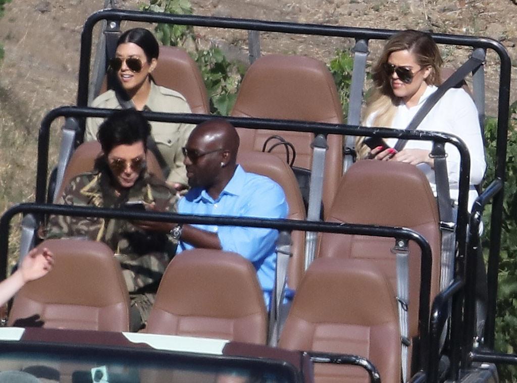 Kris Jenner, Corey Gamble, Khloe Kardashian, Kourtney Kardashian, Malibu Wine Safari