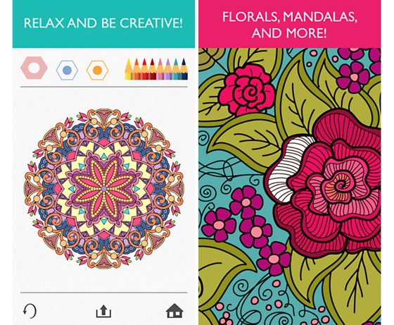 aplicativo simula livros de colorir para adultos e news